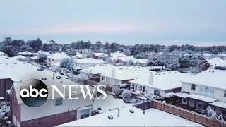 First major snowfall blankets 20 states from Texas to New England