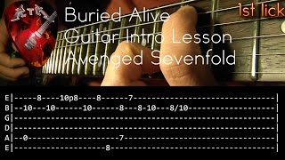 Buried Alive Guitar Intro Lesson - Avenged Sevenfold (with tabs)