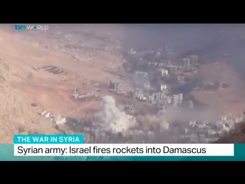 watch The War in Syria: Syrian army says Israel fired rockets into Damascus