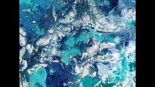 How to Create MARBLE TEXTURE Using ACRYLIC PAINT and WATER (Abstract Painting Technique)