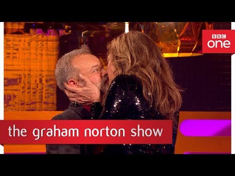 Allison Janney Demonstrates Meryl Streep's Kissing Technique - The Graham Norton Show - BBC One