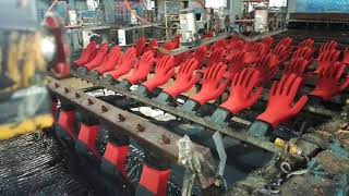 Industrial Safety Glove produce line / latex & nitrile glove dipping machine for glove factory