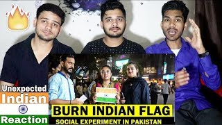 Indian Reacts To INDIAN FLAG KO PHAR DO GY | Social Experiment | Lahorified