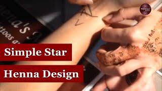 Simple Star Henna Design Tutorial