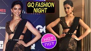 Padmavati Deepika Padukone In Black Saree At  GQ Fashion Night | Hot Or Not