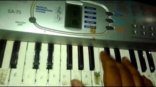 Nonstop koliget marathi song play on piano