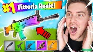 *RAINBOW GUN* CHALLENGE!! - Fortnite Battle Royale ITA w/ WizardJo