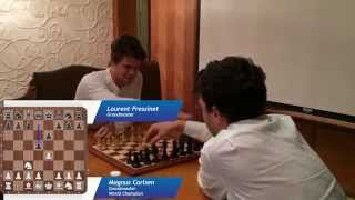 Magnus Carlsen vs. Laurent Fressinet in a Blitz Game in Oman