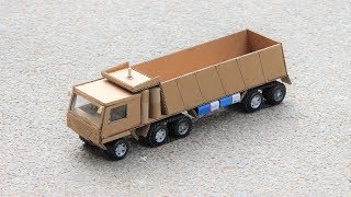 How to make a truck from cardboard DIY