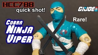 HCC788 quick shot! 1992 Cobra NINJA VIPER! Vintage G.I. Joe toy!