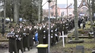 Beerdigung  des estnischen Ritterkreuzträger Harald Nugiseks