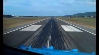 COCKPIT VIEW | B737 landing Alghero AHO/LIEA RWY 20