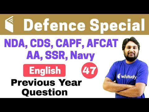 Xxx Mp4 7 00 PM NDA CDS CAPF AFCAT 2018 English By Harsh Sir Previous Year Question 3gp Sex