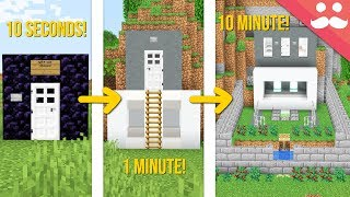Minecraft SAFE HOUSE: 10 Minute, 1 Minute, 10 Seconds!