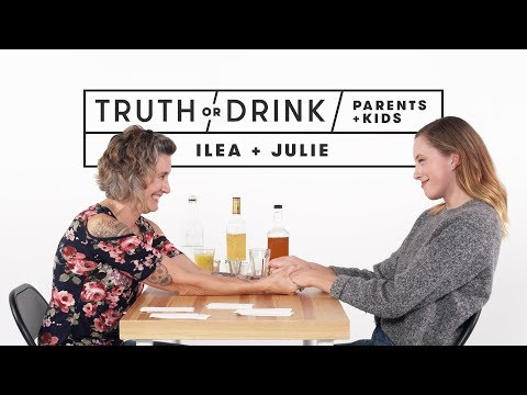 Parents and Kids Play Truth or Drink Ilea & Julie Truth or Drink Cut