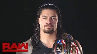 Roman Reigns knows what nightmares await inside Hell in a Cell: Raw, Oct. 24, 2016