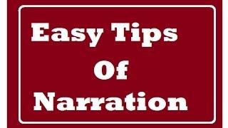 Narration  General Discussion -Grammar