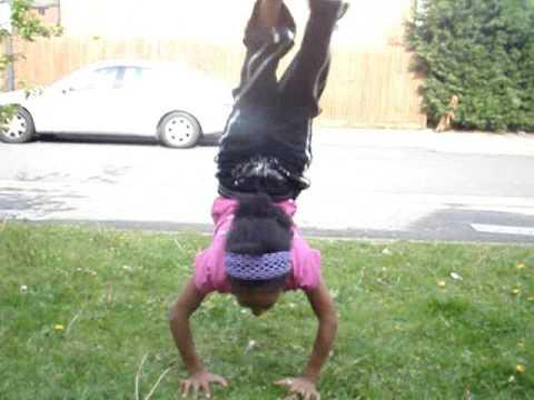 me dominique doing gymnastics