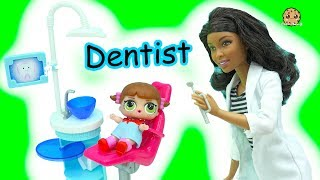 LOL Surprise Blind Bag Baby Doll Go To Doctor Barbie Dentist & Bad Babies Pee, Spit , Cry