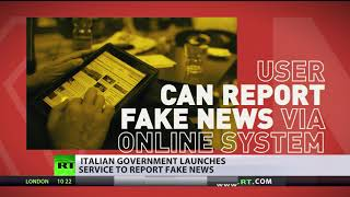 'Fake news' Red Button: Italians asked to report bogus news to police