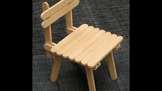 DIY - Popsicle Stick Chair - Craft For Kid