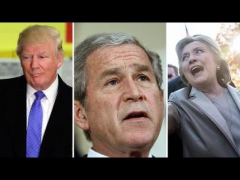 watch George W. Bush did not vote for Clinton or Trump
