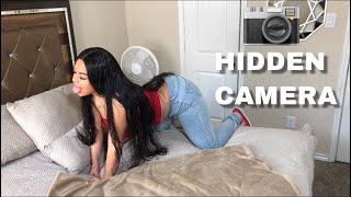 HIDDEN BEDROOM CAMERA ON GIRLFRIEND!!! *MUST WATCH*