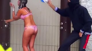 Shampoo Prank On Hot Bikini Girls (BEACH EDITION) Original Gone Wrong