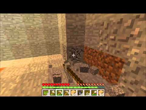 Let's Play Minecraft Part 2 Starting the search for iron With Robbe Part 1 of 2
