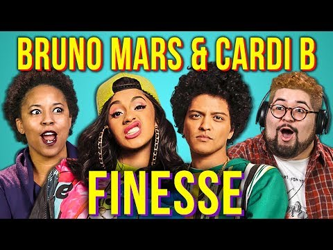 Download ADULTS REACT TO BRUNO MARS ft. CARDI B - FINESSE