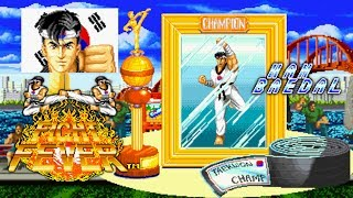 Fight Fever Han Baedal Neo Geo MVS 1CC Level 8 왕중왕 한배달