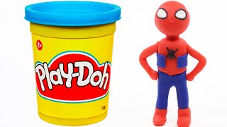 Spiderman Peppa Pig Mickey Mouse Superhero Fun IRL Play Doh Stop Motion Clay Animation