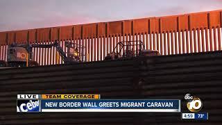 New border wall greets migrant caravan in San Ysidro