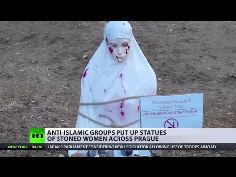 Xxx Mp4 Pregnant After Rape Statues Of Stoned Women Placed In Prague By Anti Islamic Groups 3gp Sex