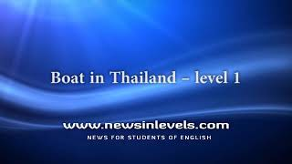 Boat in Thailand – level 1