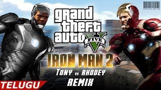 GTA 5 - Ironman 2 (Telugu) - Tony vs Rhodey Fight Scene Remix