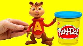 Alvin and The Chipmunks Stop motion cartoon Alvin y las ardillas funny video