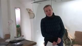 """Profesionalių menininkų iš Baltarusijos stiklo parodą """"Siuntinys"""""""