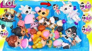 Custom LOL Surprise Dolls Play at Pool with Unicorn