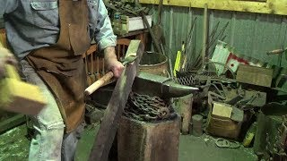 Blacksmithing - First Attempt At Forging A Timber Slick or Chisel