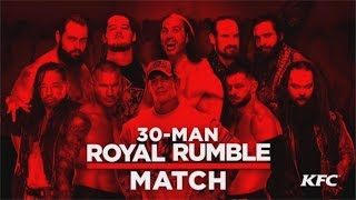 WWE Royal Rumble 2018 Men's Match Entrant Predictions!
