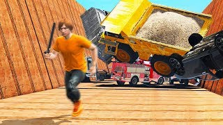 0.1% SURVIVE THIS VEHICLE AVALANCHE! (GTA 5 Funny Moments)