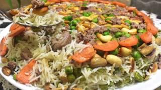 حضري الرز بالبازيلا بهذه الطريقة الشهية والمميزة وحبة رز غير معجنة ،طريقة الأوزي