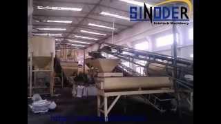 SINODER cow chicken manure fertilizer pellet making machine granulator manure composting plant