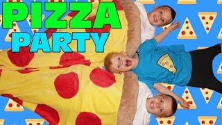PIZZA TIME!!! Kids Homemade Pizza Making - Family Game Night + Osmo