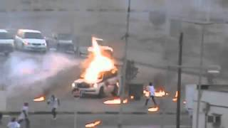 Petrol Bomb Attack on Bahrain Police