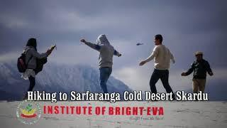Most Beautiful Hikes In The World women Hiking to Sarfaranga Cold Desert Skardu