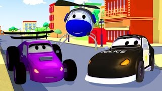 The Car Patrol : Fire Truck and Police Car 🚓 🚒 Hector is Playing Solo in Car City | Trucks cartoon