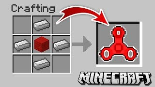 How to CRAFT a FIDGET SPINNER in Minecraft!