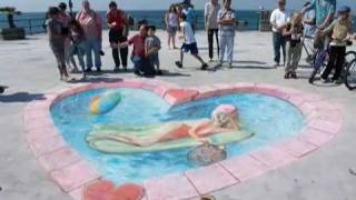 Time lapse of chalk artist Julian Beever